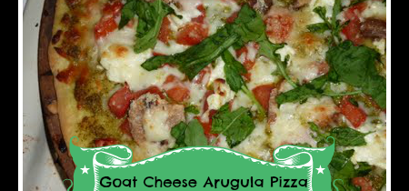 Goat Cheese Arugula Pizza