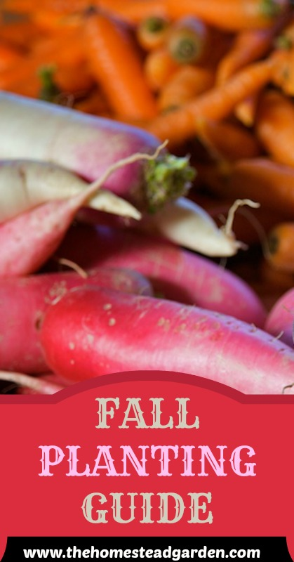 Fall Gardening Planting Guide The Homestead Garden The Homestead Garden