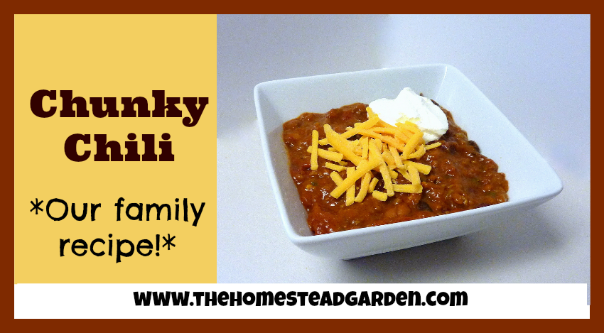 Chunky Chili Recipe