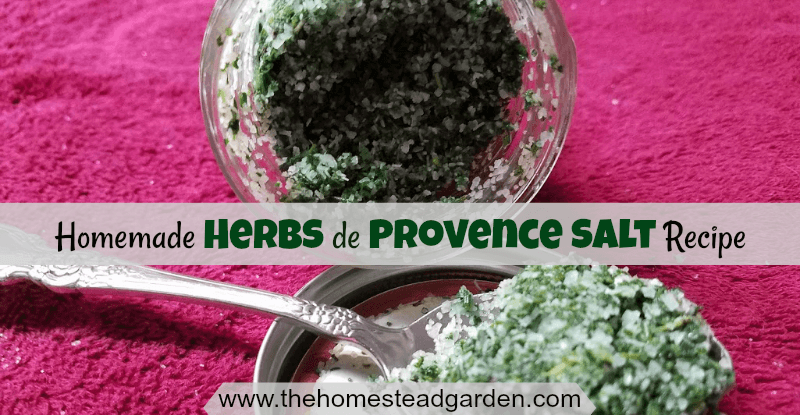 Homemade Herbs de Provence Salt Recipe