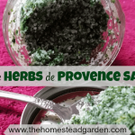 Homemade Herbs de Provence Salt Recipe