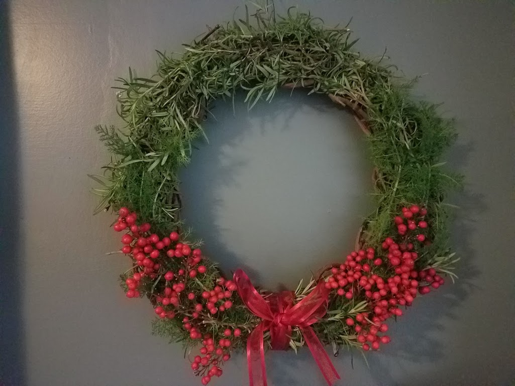 Finding Joy in the Garden in Winter: Holiday Wreath