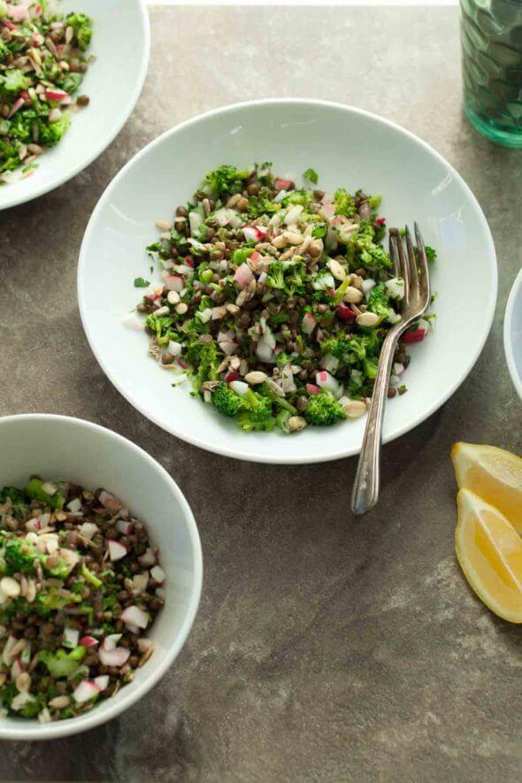 20+ Radish Recipes: Tabbouleh Style Lentil Radish Salad