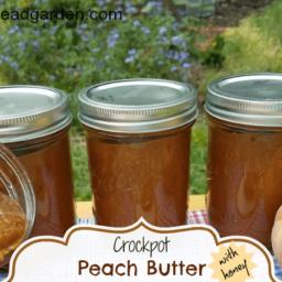 Crockpot Peach Butter with Honey