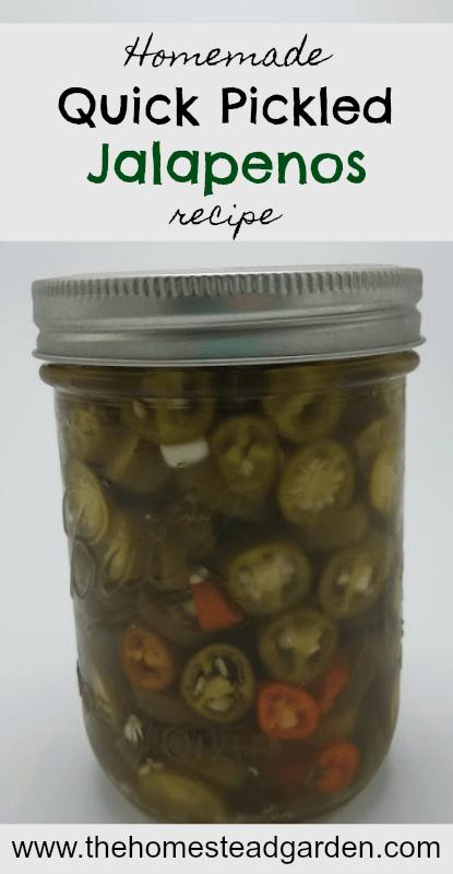 Homemade Quick Pickled Jalapenos Recipe