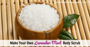 DIY Lavender Mint Body Scrub