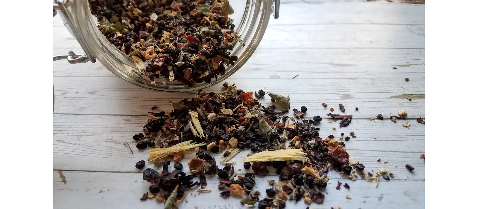 Immune Boosting Herbal Tea close up